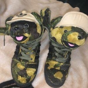 Jeremy Scott camo bear Adidas